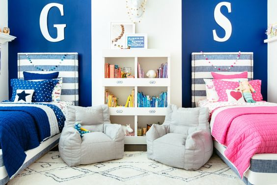 Project Nursery - Pink and Blue Brother and Sister Bedroom: