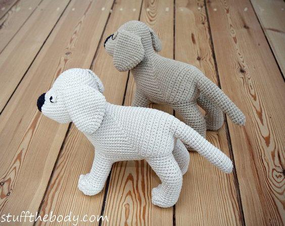 Labrador Puppy Amigurumi Pattern, Dog Crochet Pattern ...