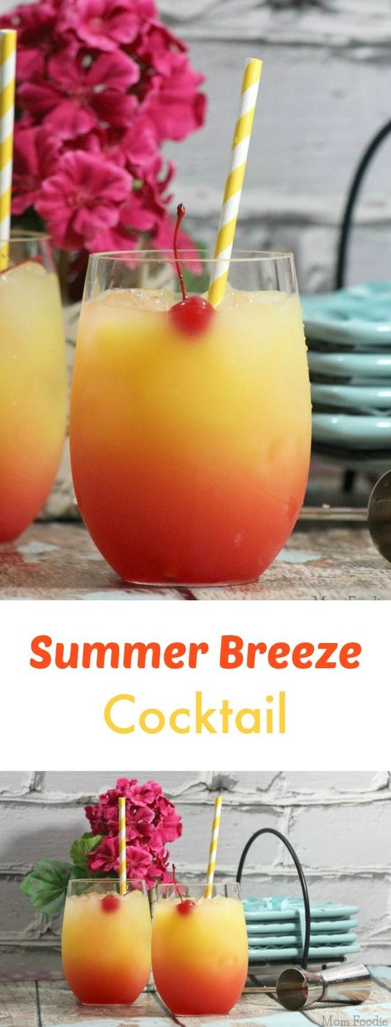 Summer breeze cocktail recipe drinks vodka and the for Morning cocktails with vodka
