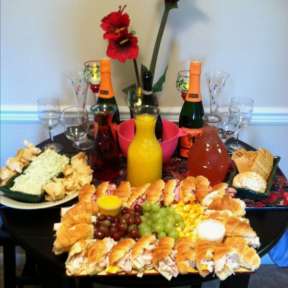 girls luncheon and mimosa bar