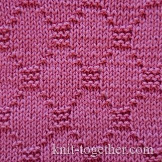 Diamond Stitch Pattern 2, knitting pattern chart, Squares, Diamonds, Basket S...