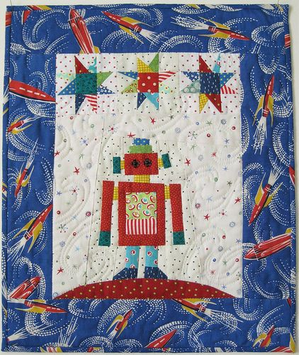 Robot quilt! Adorable!