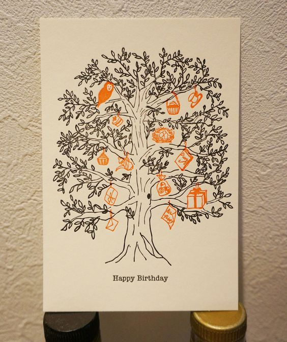 "Bithday Card ""Birthday Three"" Hand made Letterpress Paper: Half Air http://dear-dulcinea.blogspot.jp"