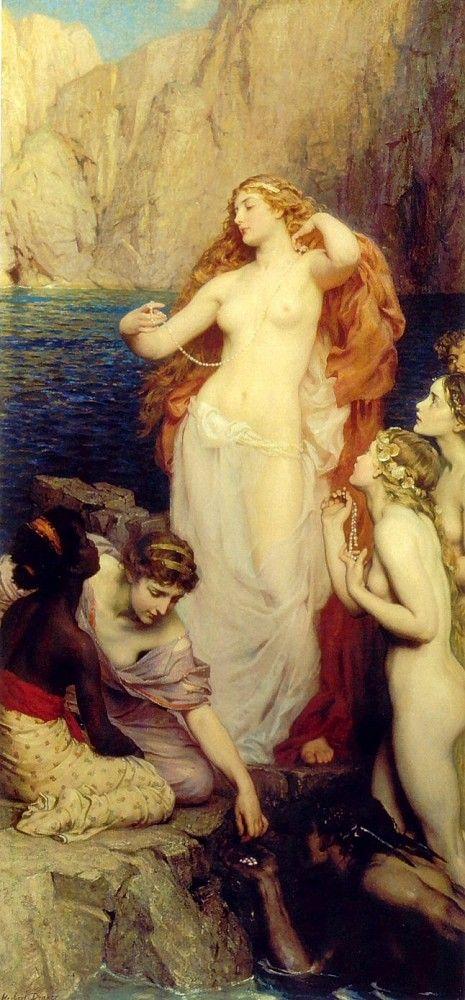 Aphrodite: Herbert James Draper, Preraphaelite, Pre Raphaelite, James D'Arcy, Aphrodite Herbert, Draper Pearls, Oil Painting