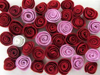 Felted roses, FilzGarten