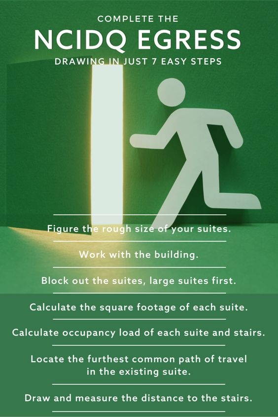 Passing solutions for the NCIDQ egress exercise emphasize function, accessibility and life safety. Here's 7 easy steps to help you pass this the first time.