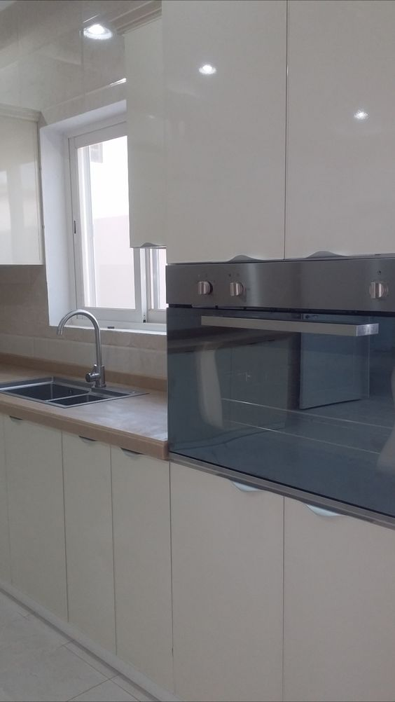 مطبخ صاج لماع Double Wall Oven Wall Oven Kitchen Appliances
