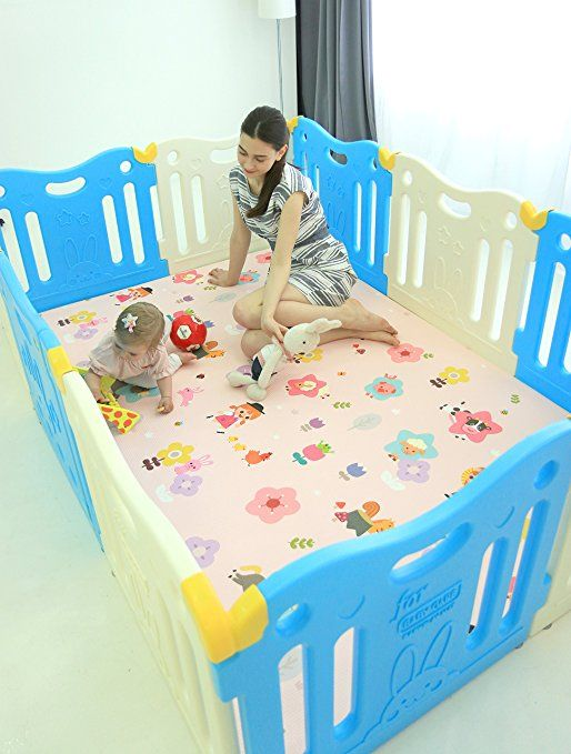 Pink and White Baby Care FunZone Playpen Pink