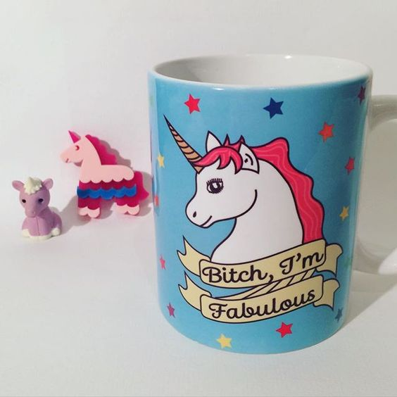 Hope you all had a good weekend  Here's to a productive and non-grouchy Monday! ☕️ #fabulous #unicorn #mug #funny #cute #love #handmade #thriftbox #thriftboxuk #etsy #folksy #blue #stars #illustrator #illustration