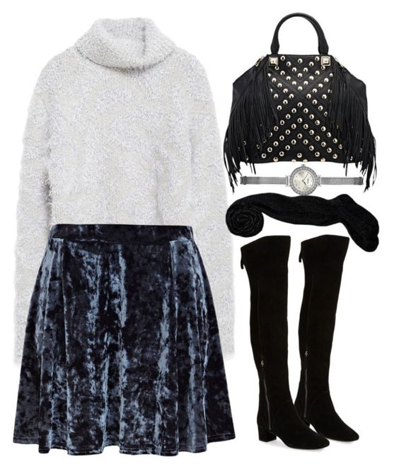 """""""Untitled #250"""" by foreverdreamt ❤ liked on Polyvore featuring Zara, River Island, Rebecca Minkoff, Nine West and GUESS"""