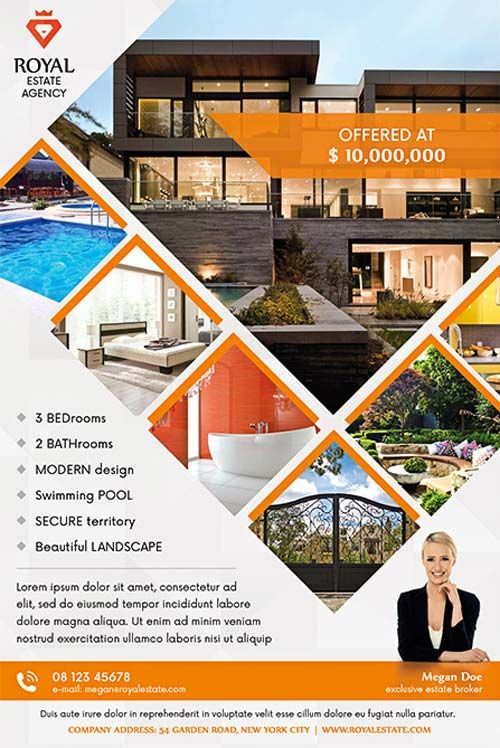 Real Estate Multipurpose Free Flyer Template - http\/\/freepsdflyer - home sale flyer template