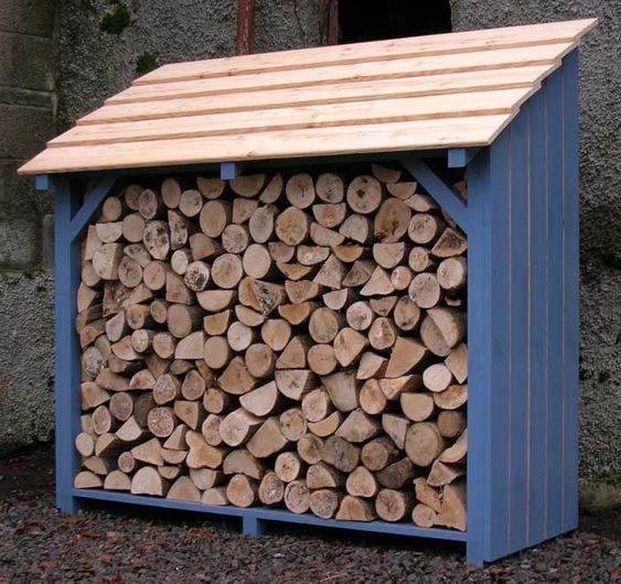 Colorful firewood storage with slanted roof #fireWoodStorage #firewoodrack #firewood #firewoodideas #organization #shed