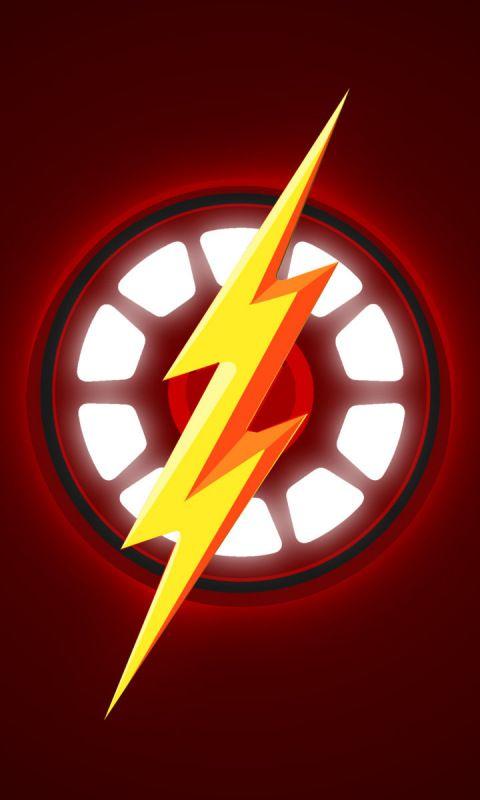 Logo Minimal Iron Man The Flash Superhero 480x800 Wallpaper Flash Wallpaper Cool Backgrounds For Iphone Anime Wallpaper