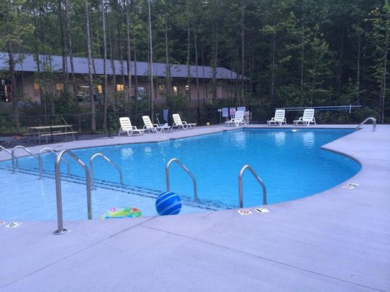 Check out our beautiful custom swimming pool at smoky - Camping near me with swimming pool ...