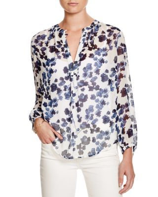 Joie Amaral Watercolor Print Blouse | Bloomingdale's