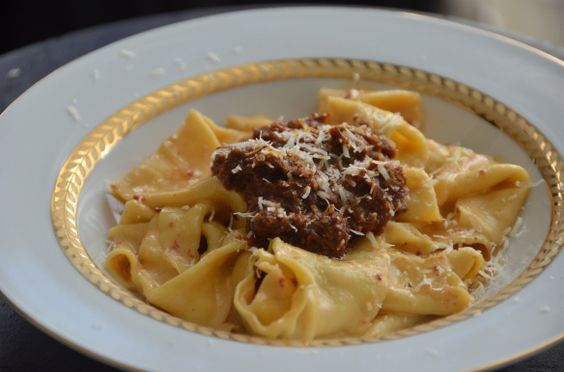 Pappardelle with Short Rib Chili and Chipotle Cream Sauce. Yowza ...