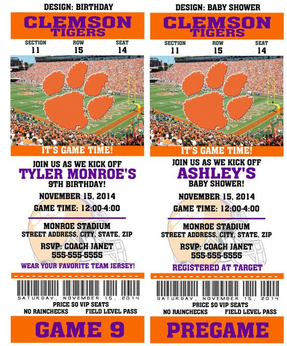 Printable Clemson Tigers College Football by QtPieWrappers