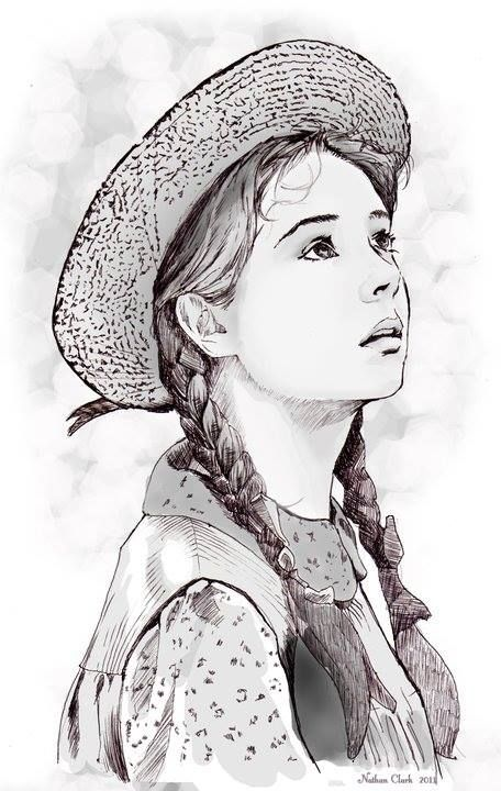 I might have to have a go at drawing this....Megan Follows as Anne of Green Gables