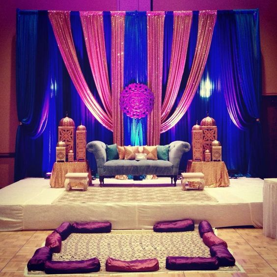 Event styling mehndi stage and wedding decorations on for Arabic stage decoration