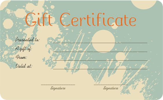 ... Gift Certificate Template Beautiful Printable Gift Certificate   Money  Voucher Template ...  Money Voucher Template