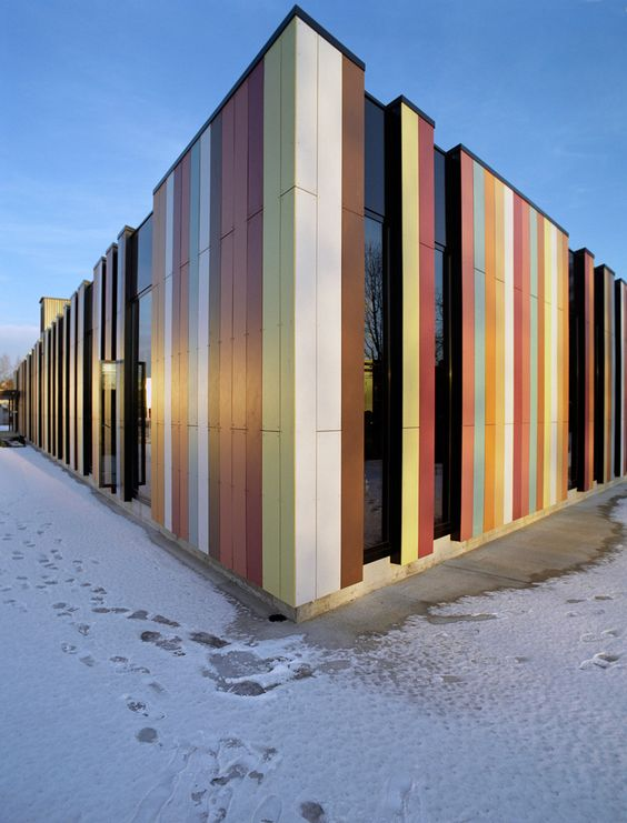 Jarmund osloint details of the exterior facade material for Exterior building materials