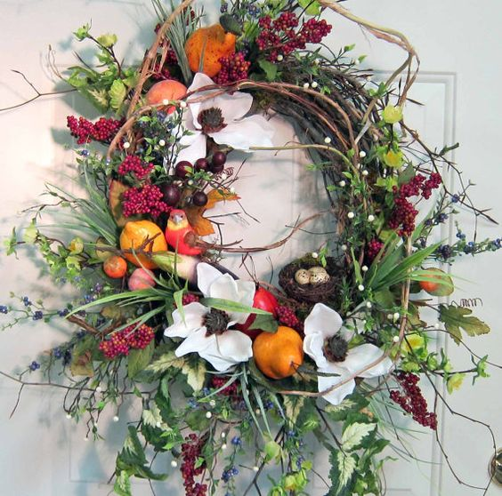 Exceptional XL Front Door Wreath Such a Beauty by LadybugWreaths, $159.97