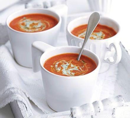 Tinned Tomato & tamarind soup #healthy #mid week #winterwarmer