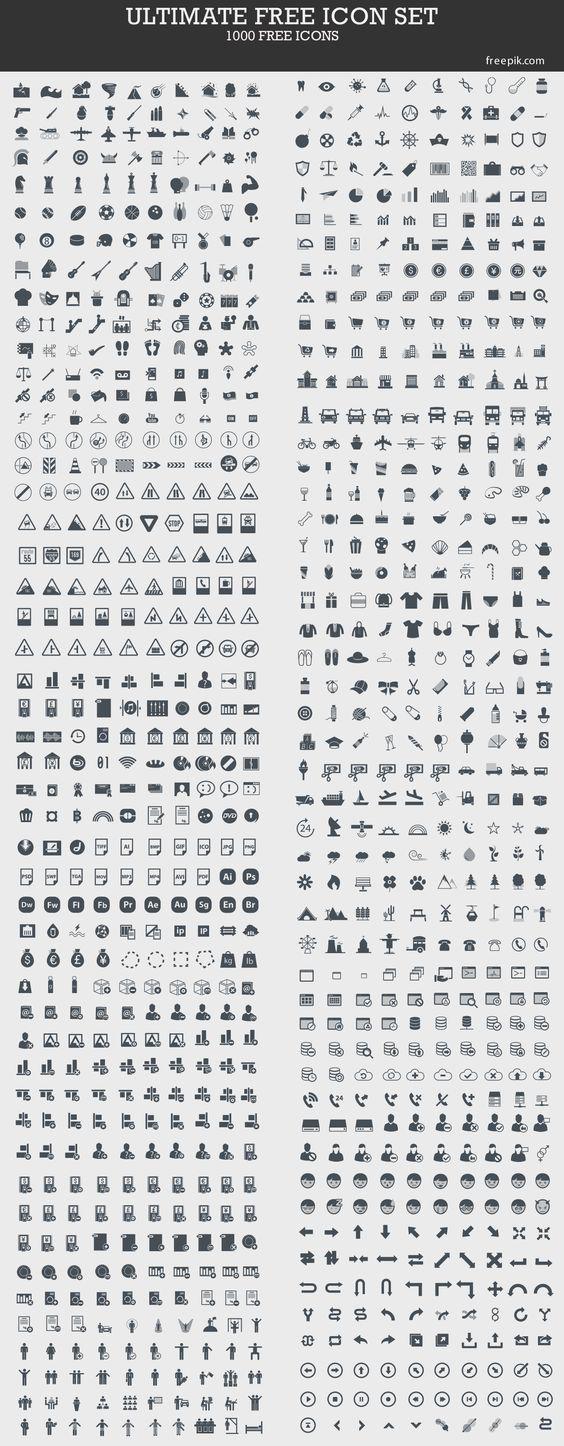 Ultimate Free Icon Set (1000 Icons)