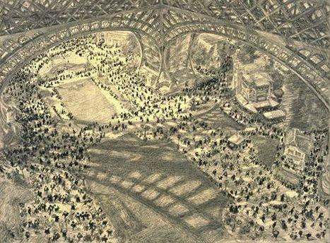 Vue de la foule vue de la Tour Eiffel - Exposition universelle de 1900 — Wikipédia
