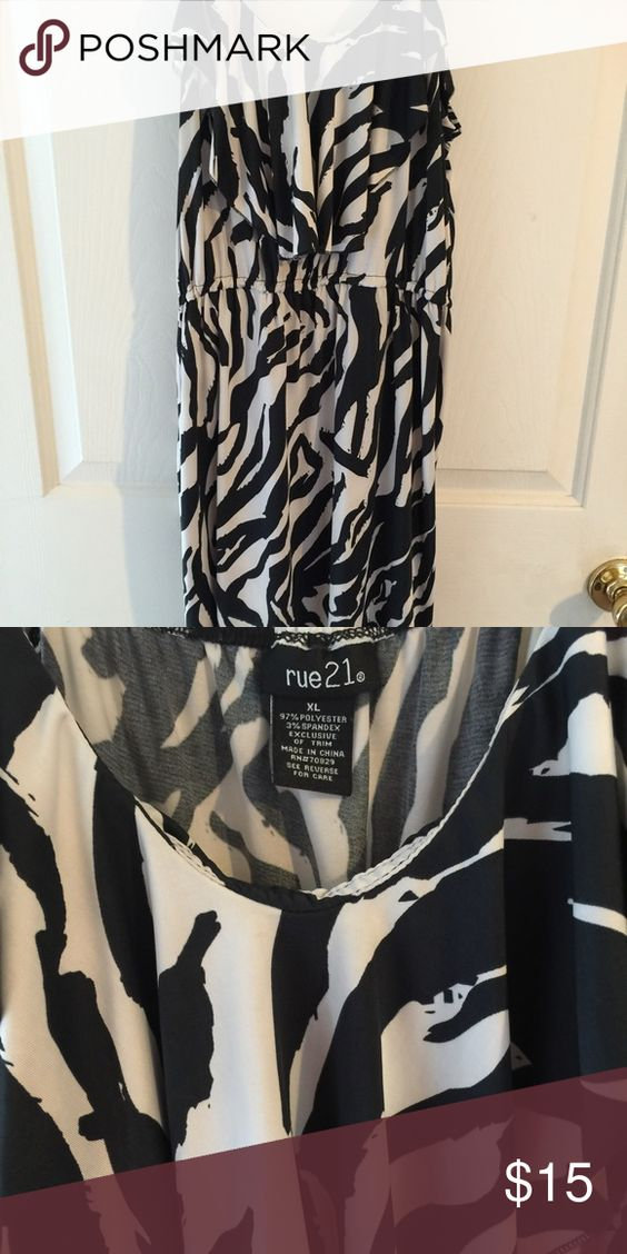 Rue 21 mini dress Rue 21 black-and-white mini sun dress worn once Rue 21 Dresses