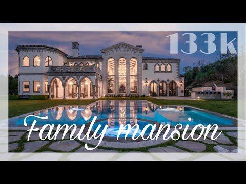Family Mansion Bloxburg 133k Speed Build Youtube In 2020