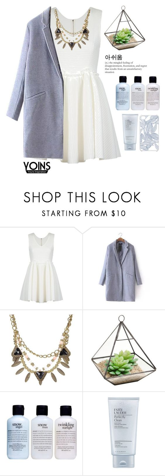 """#Yoins"" by credentovideos ❤ liked on Polyvore featuring Oom, philosophy, Estée Lauder and CO"
