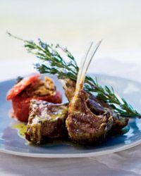 Grilled Lamb Chops w/ Ladolemono