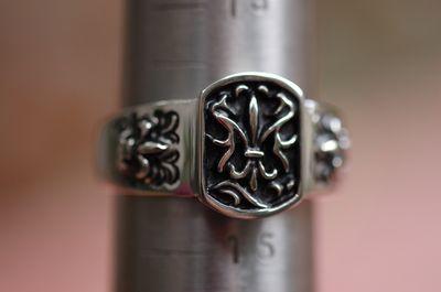 Stainless Steel Fleur de Lis Ring