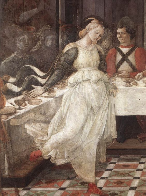 Herod's Banquet (detail), 1452-1465, by Fra Filippo Lippi  ArtExperienceNYC   www.artexperiencenyc.com