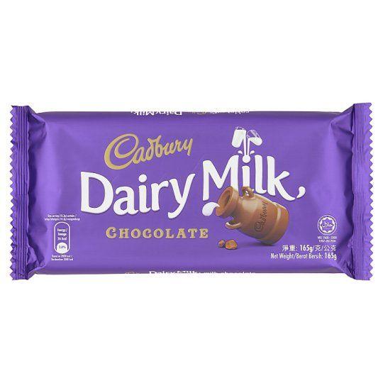 Cadbury Dairy Milk Chocolate 165g Dairy Milk Chocolate Cadbury