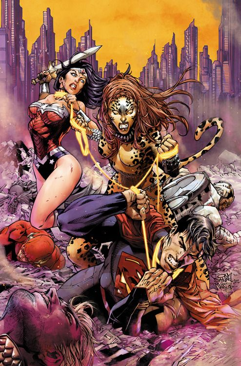 JUSTICE LEAGUE #13's Wonder Woman vs Cheetah Variant ...