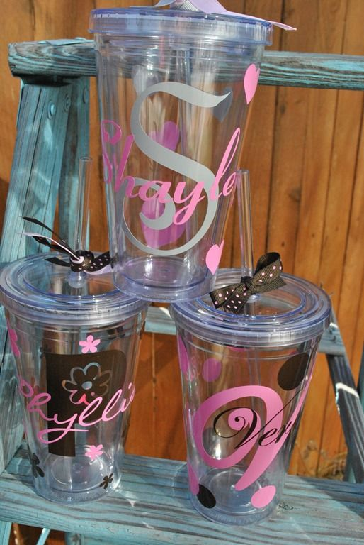 Best Images About Silhouette Crafts On Pinterest Elegant - Best vinyl for cups