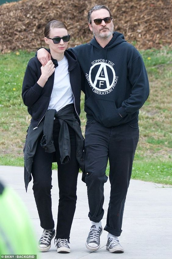 Joaquin Phoenix and Rooney Mara march with dead animals during grisly protest for Animal Rights Day   Daily Mail Online