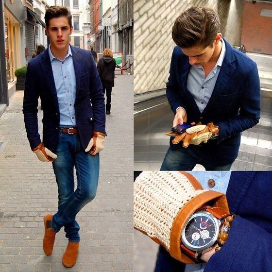 Collection Blue Blazer With Jeans Pictures - Reikian