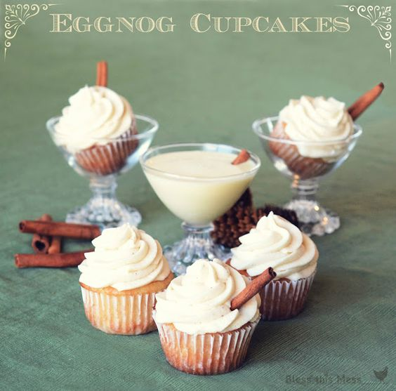 Eggnog cupcakes, Cupcake and Nap times on Pinterest