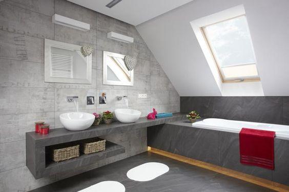 nowoczesna szara łazienka