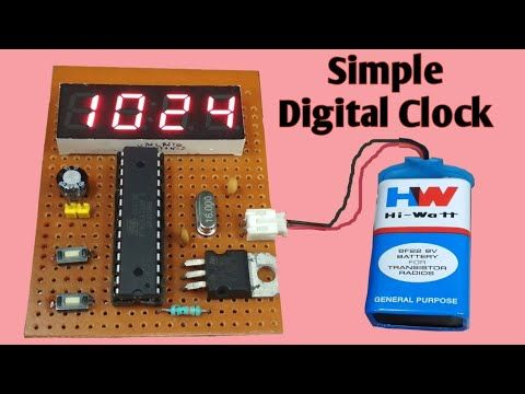 Easy Digital Clock Atmega328p Chip 7 Segment Clock Jlcpcb