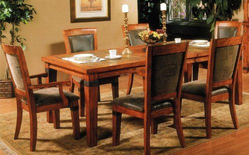 7pcs Formal Dining Table And Chairs Set With Slate Inlay Https Www Amazon Com Dp B003zjzooa R Dining Chairs For Sale Dining Table Chairs Dining Chairs Uk Kitchen table chairs for sale