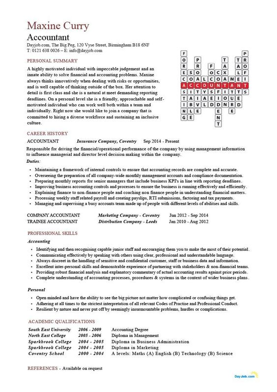 Accountant Crossword Resume Template Cv Doc Financial Junior Chartered Senior You Can G Teacher Resume Template Medical Assistant Resume Resume Examples