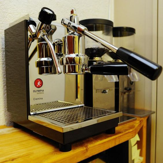 Olympia Cremina Paired With An Isomac Grinder Coffee Machine Espresso Machine Bad Coffee