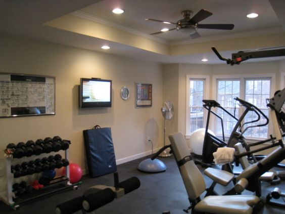 A mini home gym. Just some weights, a cardio machine or two, and some room to stretch out and do my yoga. Simple, easy and convenient.
