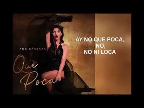 Ana Barbara Que Poca Letra Video Oficial Youtube Musica Variada Youtube Redes Sociales Instagram
