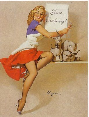 Crafting: Classic Crafting, Pinups, Crafting Chloe, Pin Up Girl, Crafting Pin, Vintage Pin Up, Crafty Pinup