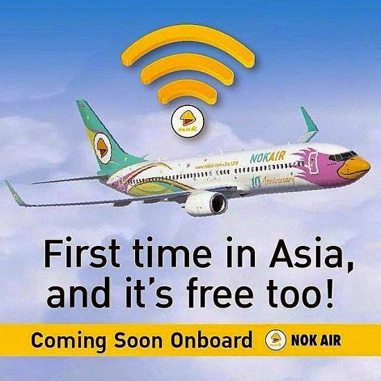 Gratis WiFi bei Nok Air